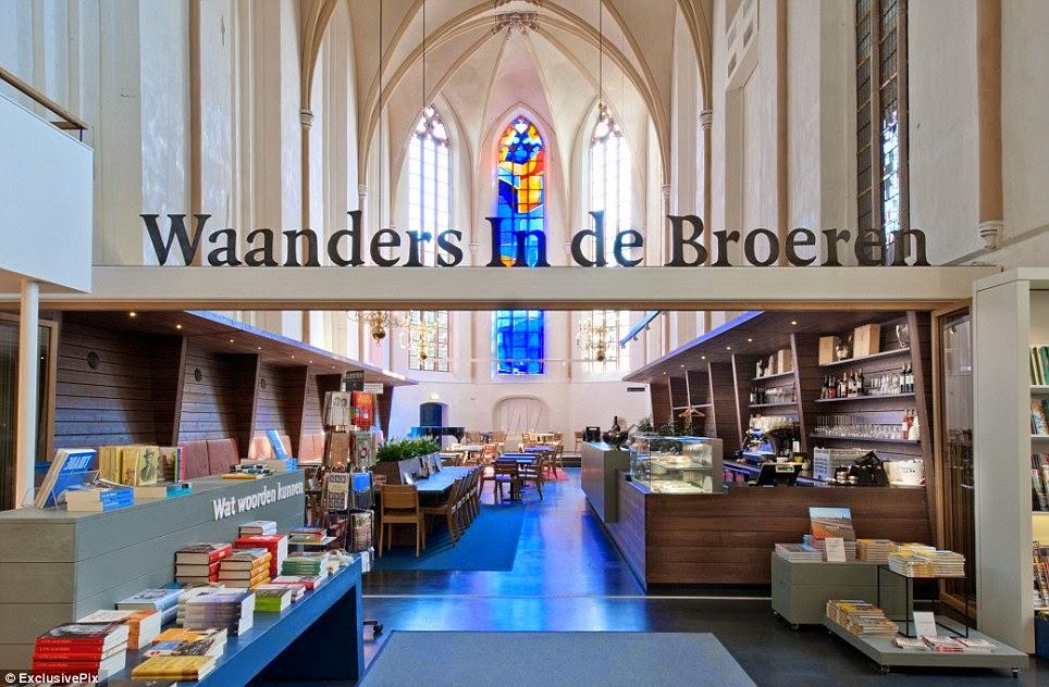 Libreria Broerenker. Libreria en una iglesia. paises Bajos Las mejores librerias con MientrasLeo