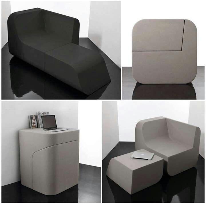 Dual Cut, diseño de Kitmen Keung, producido por Sixinch. muebles multifuncionales. Aprovechar espacio