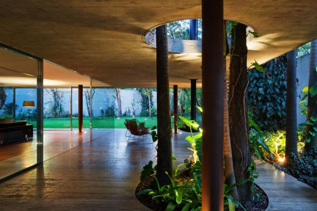 18-Indoor-trees Diseño y naturaleza. Casa con arbol