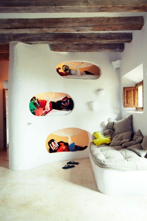 Decoracion de dormitorios para niños. Literas divertidas