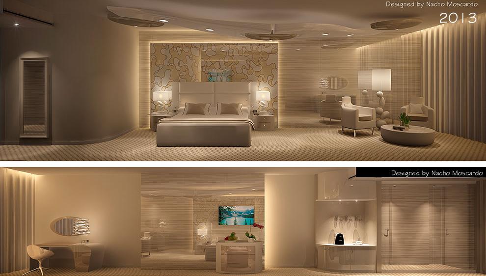 habitacion hotel La Mecca diseño Nacho Moscardó