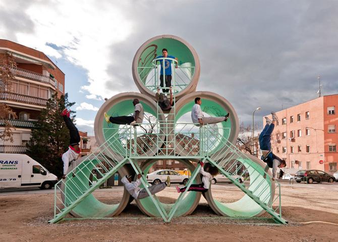 Paisaje Tetuán, Hypertube, de PKM arquitectos y la casquería, foto PKM.es