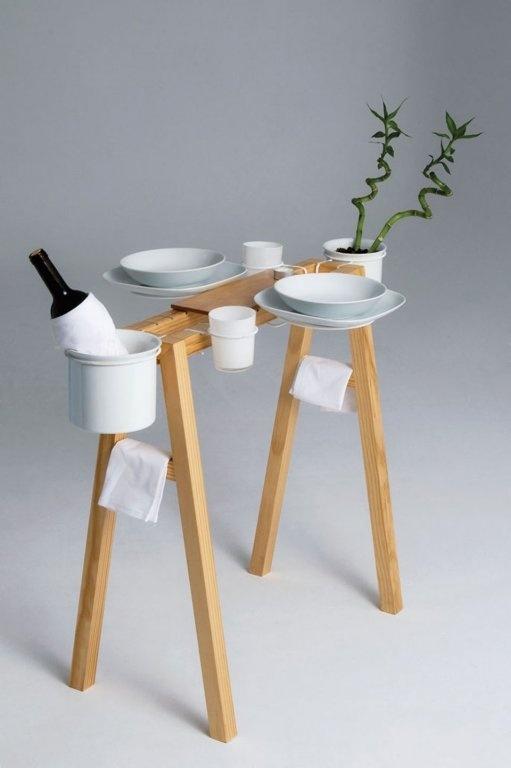 cabatellete-mesa muebles multifuncionales. Aprovechar espacio