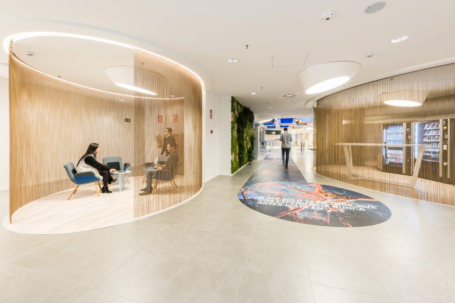 sede Roche Madrid diseño 3g office. Oficinas sostenibles y espacios colaborativos
