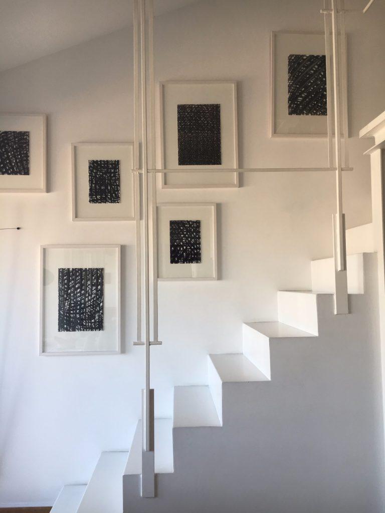 francesca bertugli architetto. Escalera pintada epoxi. tendencias en decoracion 2017