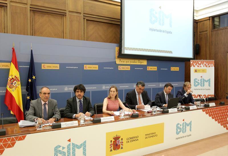 La ministra de Fomento, Ana Pastor, en el acto de constitución de la Comisión para la implantación de la metodología BIM