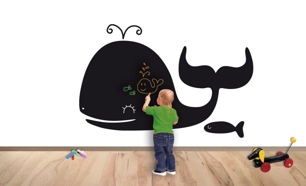 Las pizarras son muy útiles y divertidas ya sean pintadas o en vinilo Decoracion de dormitorios para niños