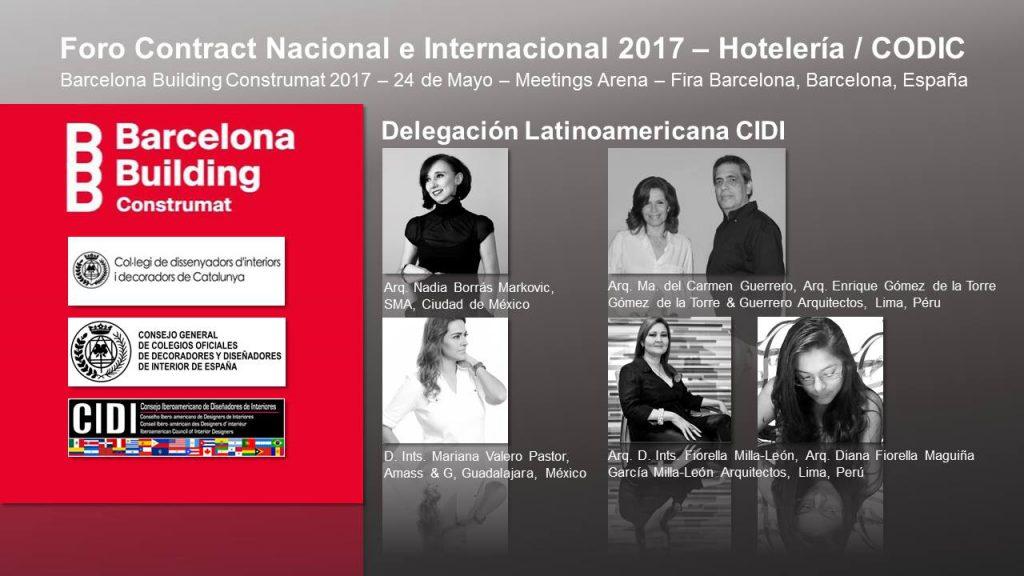 ARQUITECTOS iberoamericanos EN foro contract CONSTRUMAT 2017 CIDI