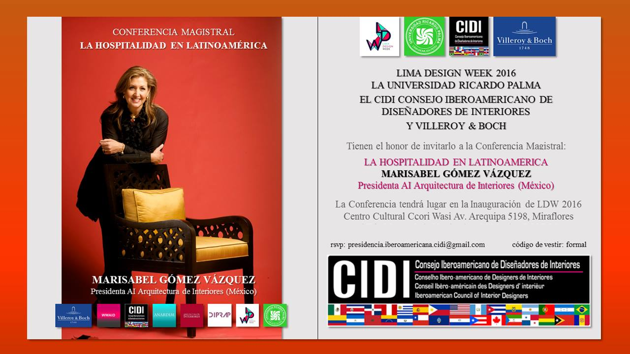 conferencia-marisabel gomez vazquez Lima design week 2016