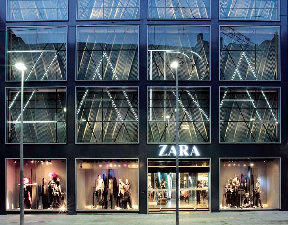 Clave diseño de espacios comerciales 3g office Raul Escudero. Zara Barcelona