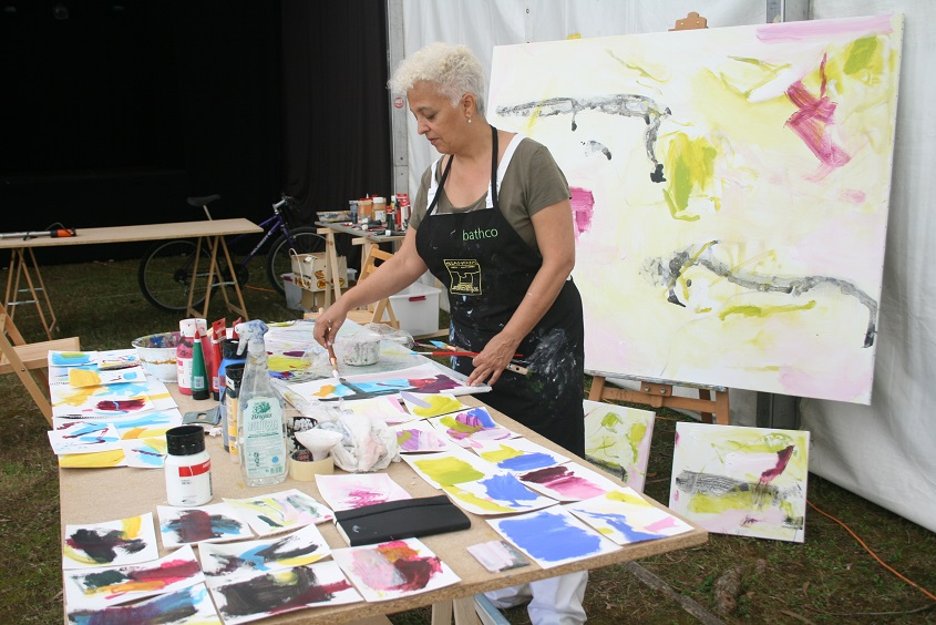 Dora Piñon . Pintura . simposio internacional de artistas. Sianoja 2017. Manolo Saenz Messia