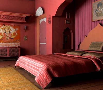 Dormitorios estulo hindú. Indian Style Bedroom
