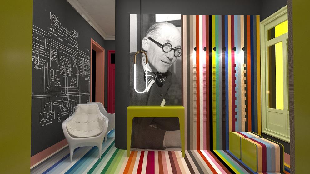 Espacio C10 2ª planta Jung en Casa Decor 2018 -Les Coleurs Le Corbusier