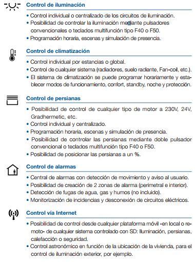 FUNCIONES DE SISTEMA DOMOTICO SD SOLUCION DOMOTICA JUNG