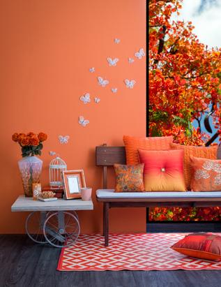 color y bienestar. color naranja