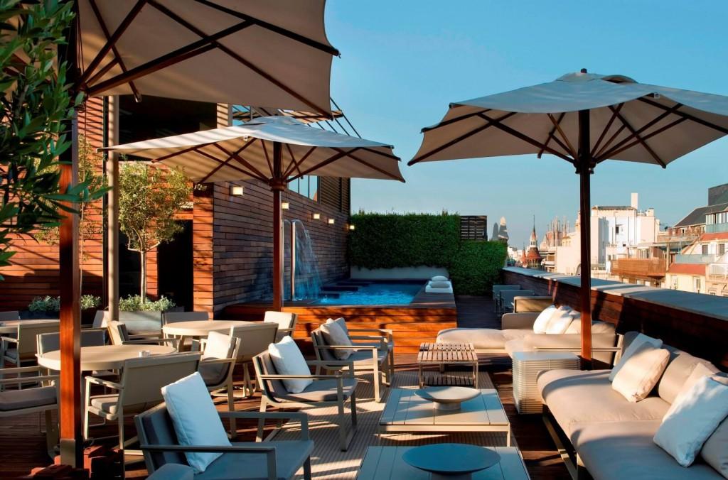 Hotel Omm_terraza. Barcelona. Trivago 10Deco