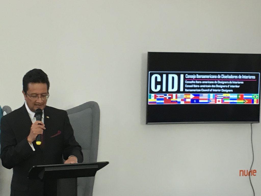Presentación VIII Bienal CIDI en Feria Valencia por Juan Bernardo Dolores, Presidente Cidi