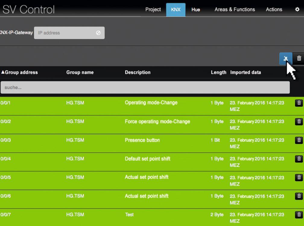 Control movil Jung Smart Visu Server para smartphone, tablet o PC. Sistema KNX