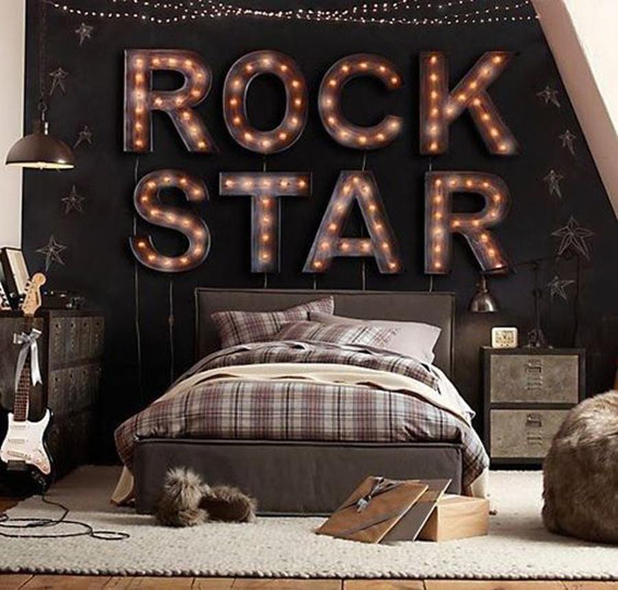 Kids-Bedroom-Accessories-Cool-Lighting-Ideas-For-Boys-Room- Dormitorios juveniles con estilo