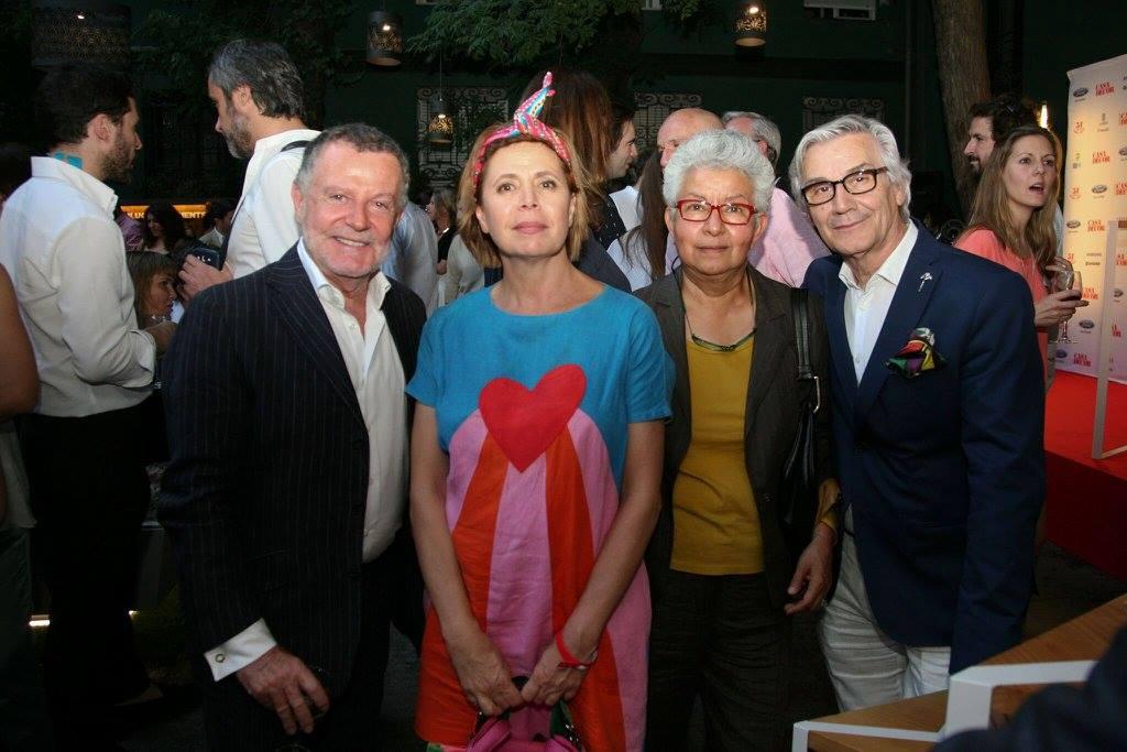Pascua Ortega, Agatha Ruiz de la Prada, Cuca Guixeras y Diego Rodríguez