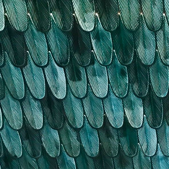 Restaurante Zela en Ibiza Interiorismo Studio Gronda detalle barra cerámica esmaltada plumas ©Jose Salto