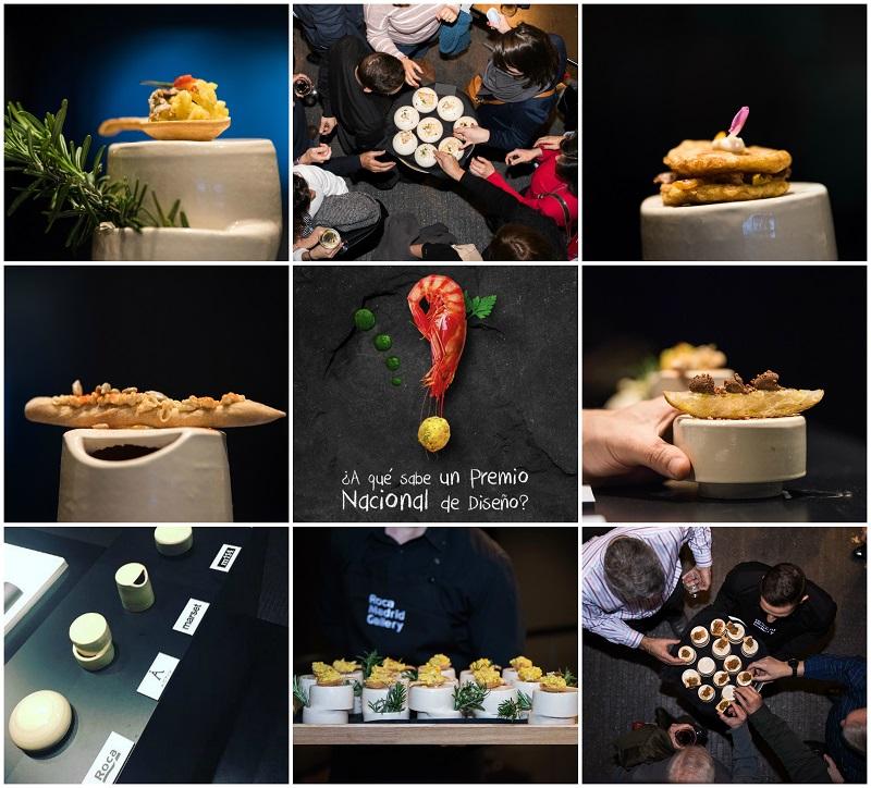 Roca Madrid Gallery. A que sabe un Premio Nacional de Diseño. Diseño y Gastronomia . Tapas