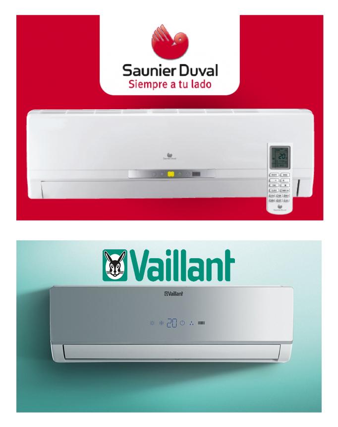 Split Pared Saunier Duval y Vaillant