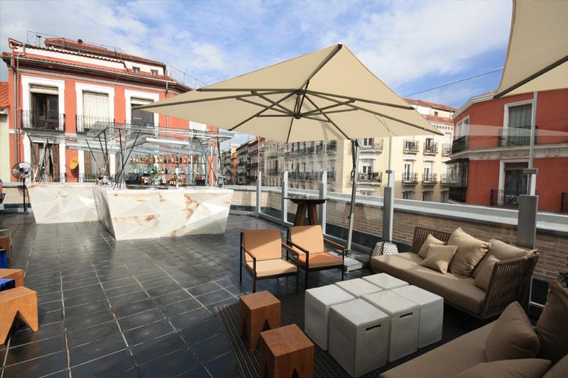 Terraza de Mercado de San Antón.