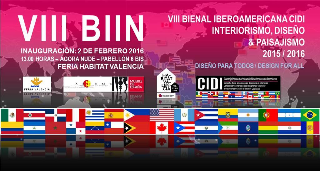 VIII Bienal cidi iberoamericana de interiorismo en Valencia