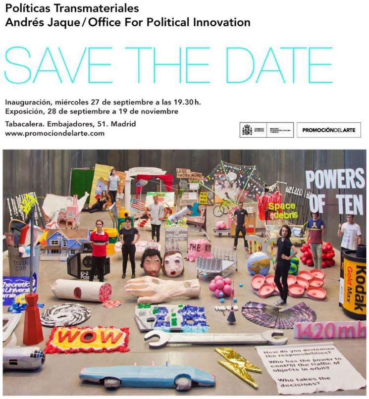 andres jaque exposicion Tabacalera Madrid Politicas transmateriales