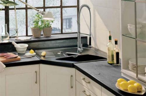 Aprovechar espacio cocina fregaderos esquina 4 10decoracion for Muebles de cocina en esquina