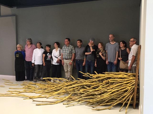 artistas de sianoja 2017 en la exposicion de Nacho Zubelzu