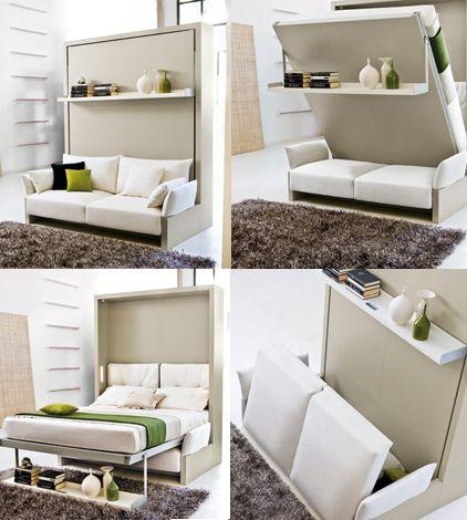 cama abatible CLEI. muebles multifuncionales. Aprovechar espacio