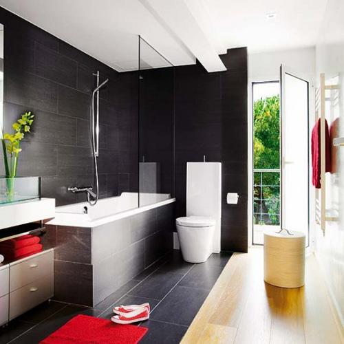 Azulejos Baño Santander:baño en negro – 10Decoracion