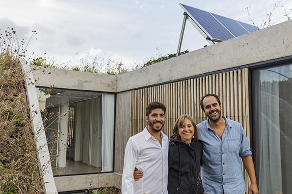 casa memo vivienda sostenible en Argentina . Arquitectura sostenible
