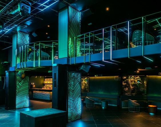 Sala Changó madrid Discoteca. Diseño Cuarto Interior. Iluminación Led