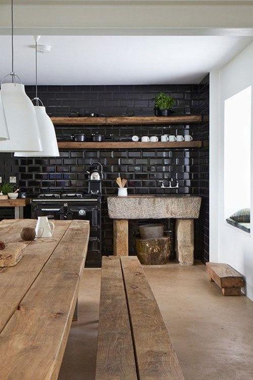 cocinas negras. Ideas para decorar la cocina sin obras.