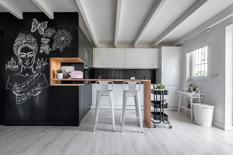 Estrena cocina sin hacer obras 10decoracion - Pared pizarra cocina ...