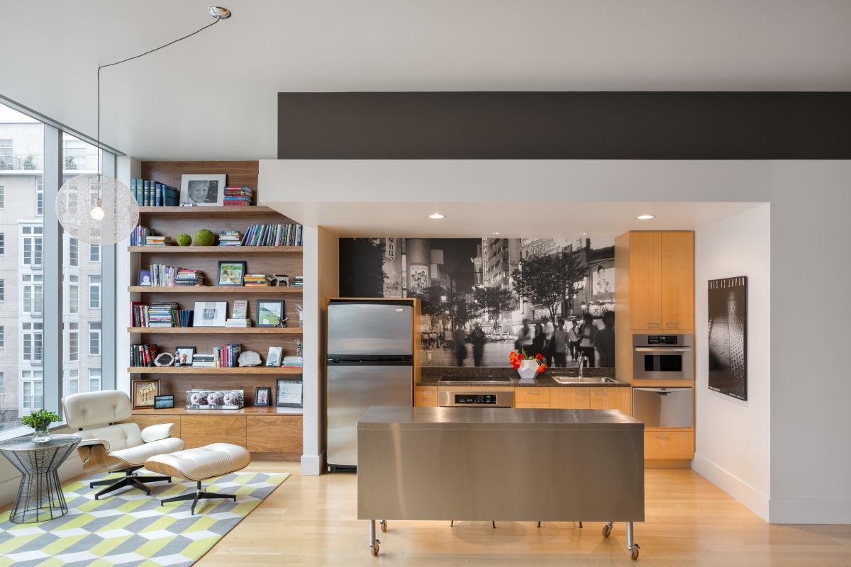 contemporary kitchen cocina en isla diseño