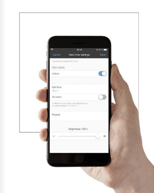 controla la luz . Sistema LB Management Jung app. Control de luces y persianas