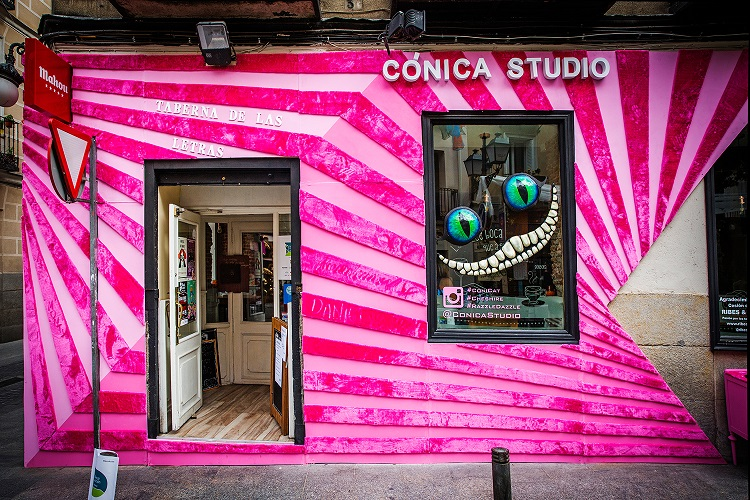 decoraccion 2017 decoracion fachada Barrio de las Letras Taberna de las Letras