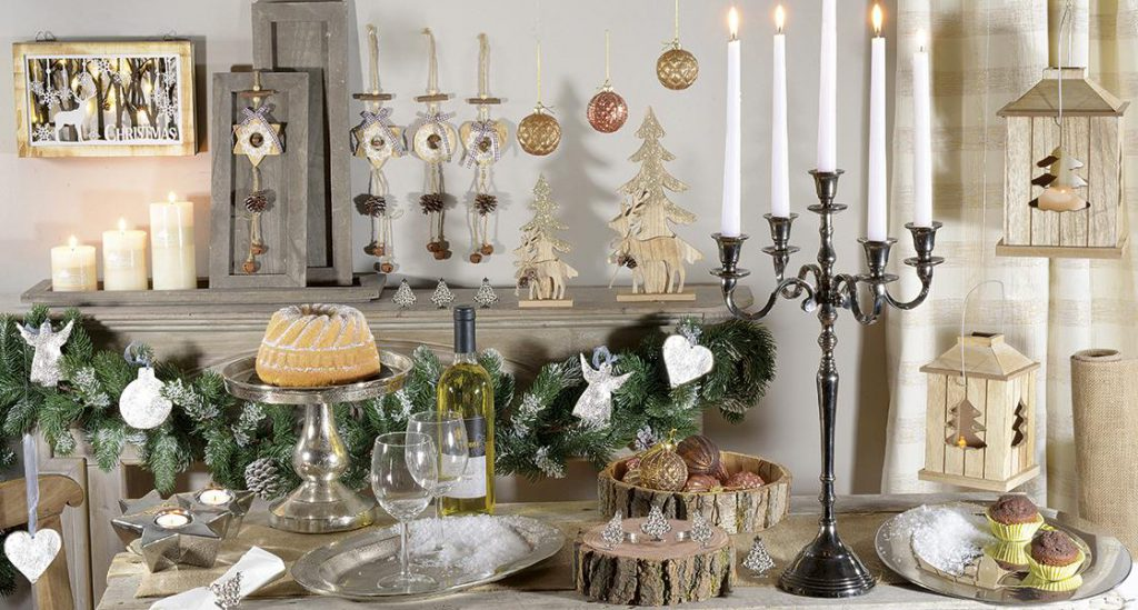 decoracion de navidad en metal, madera y cristal. Do it your self.