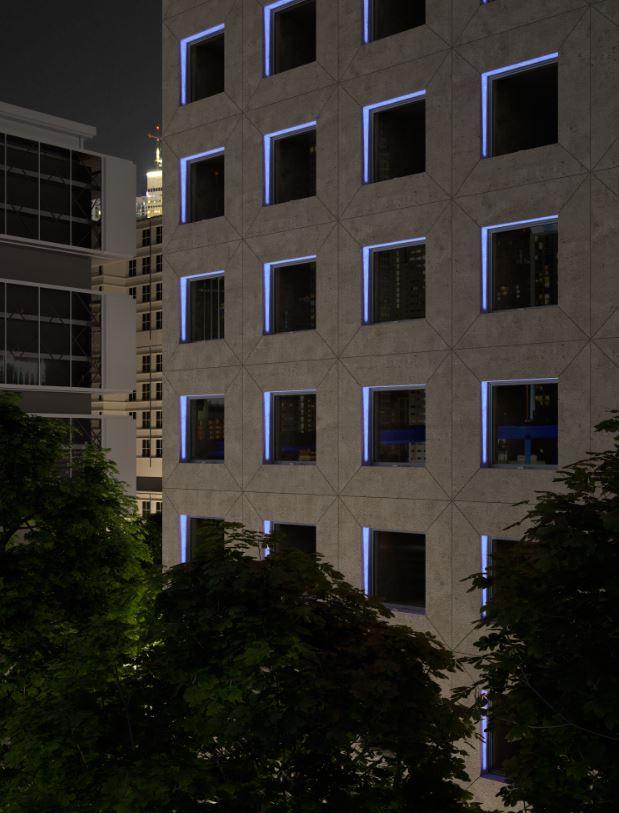 fachada iluminacion led. leds c4