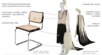 Mobiliario y moda en el siglo XX.