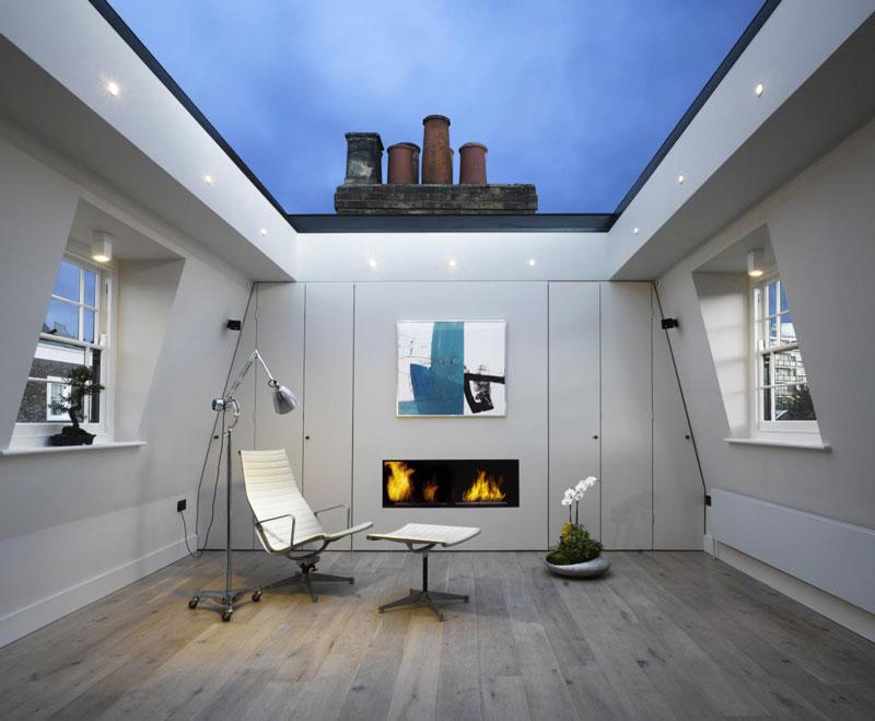 houseinLondon-1 Diseño y naturaleza. techo de cristal