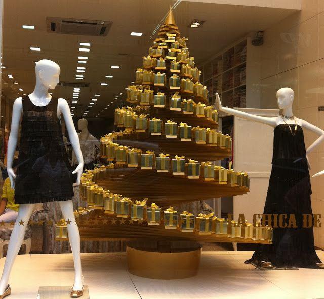 ideas decoración de Navidad adornos de navidad originales. Arbol de Navidad hecho con cajas