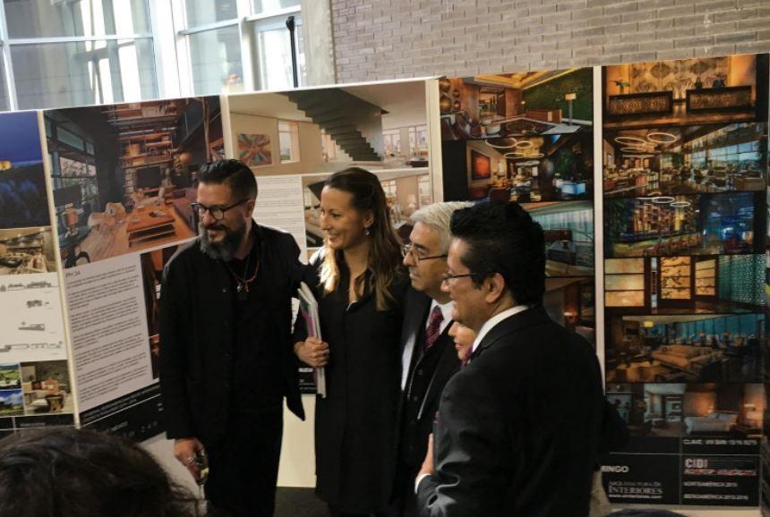 juan carlos baumgartner con Patricia Ybarra de ANIEME, Teresa Edwards y Juan Bernardo Dolores