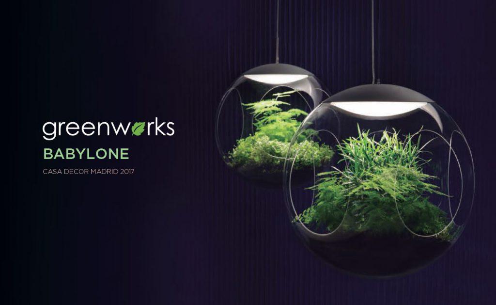 lampara babylone greenworks. jardines interior