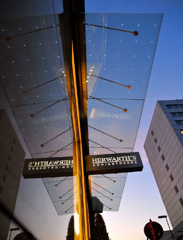 led integrado en vidrio led ideas Light Points herwarths