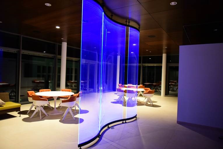 led integrado en vidrio lightglass-glass